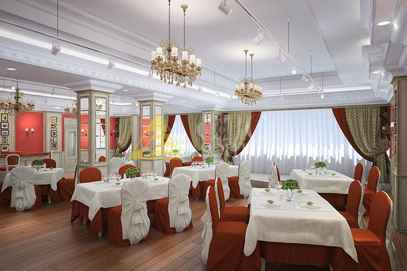 Визуальное увеличение пространства при разработке дизайн-проекта ресторана
