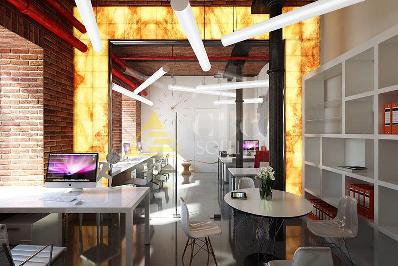 Дизайн-проект офиса в стиле «лофт» - для каких организаций актуально такое оформление, особенности стиля
